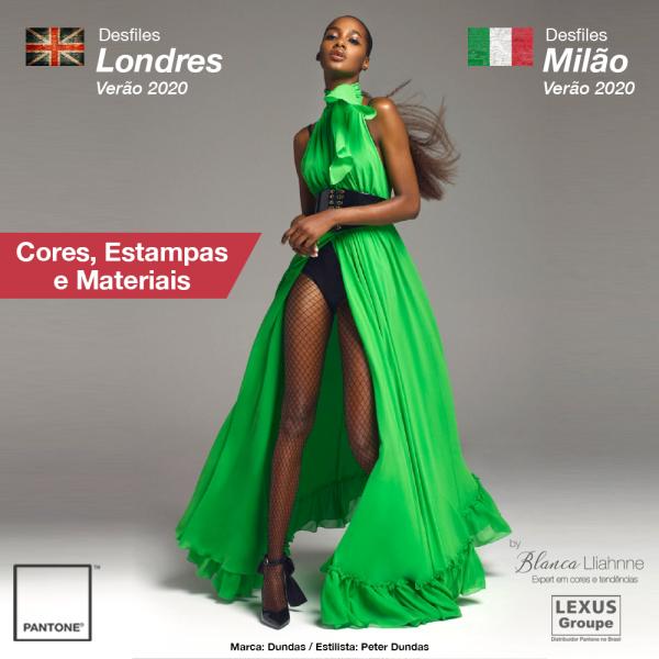 Desfiles Londres e Milão   Verão 2020